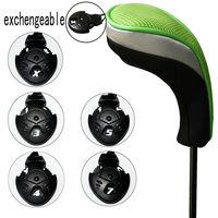 Клубная головка для клюшки Andux Golf Hybrid Club Head Covers Set Of 4 Black & Green Interchangeable No. Tag MT/hy05