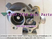 Воздухозаборник GT2052S 722687-0001 722687-5001S 722687 14411-7F411 Turbocharger For Nissan Terrano II 2001; Pathfinder 2.7L 118HP TD27TI 2001-05