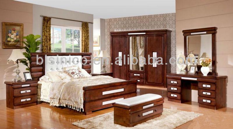 Klassische feste holz schlafzimmermöbel sets, antiken ganze Reihe ...
