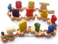 Пазл MOQ 1PCS Wooden Puzzle Baby Educational Toy Digital Train NZ067p