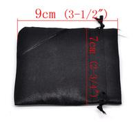 Упаковка из органзы 50 Black Terylene Gift Bags&Pouches 9x7cm