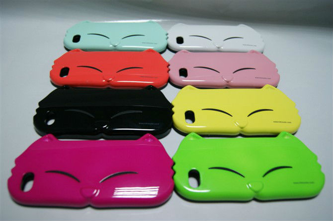 2012 Silicone Hot Cat Faceplate Case Phone Cover Skin animal shaped phone cases