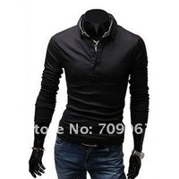 Мужская футболка 2012 NEW Arrived-SHIPPING NEW STYLE HIGH QUALITY 100% cotton POLO Men Casual long sleeve fit Tshirt size M L XL XXL 2 COLOR