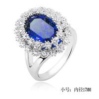 Кольцо Luxury White Gold Plated Topaz Crystal wedding ring fashion jewelry GPR14
