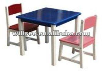 Kd 035 de madera de cabrito de mesa y silla conjuntos de - Mesas ninos madera ...