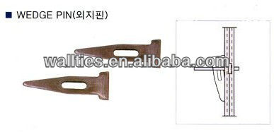 Zinc plating wedge pin