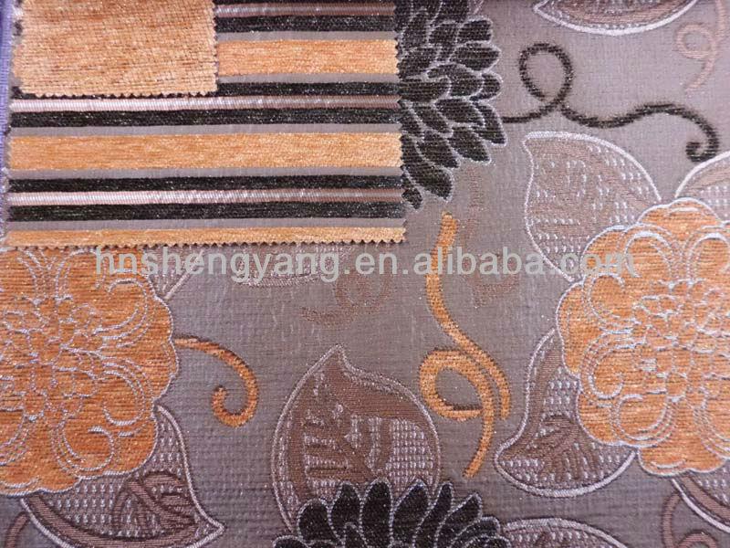 100% polyester metallic yarn chenille sofa fabric