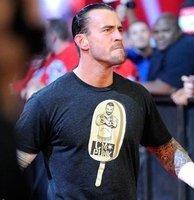 Мужская футболка wrestling CM Punk Ice Cream Bar Authentic T-Shirt; 100% cotton wrestling T-shirt, WWE wresting tshirt