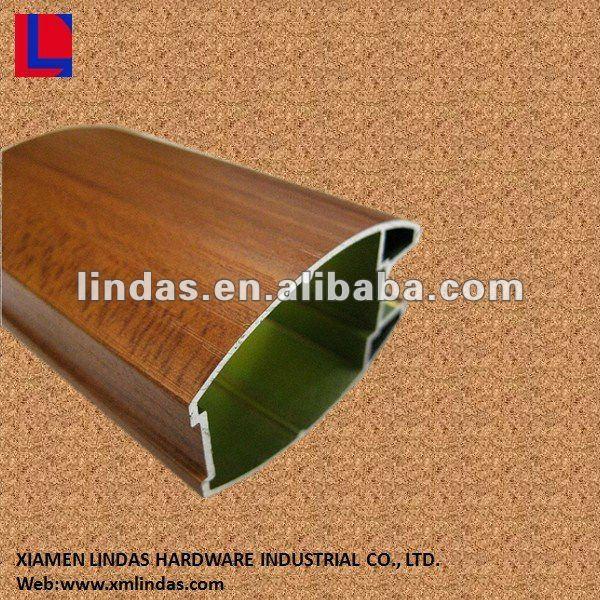 de madera armario de extrusión de perfil de aluminio para muebles