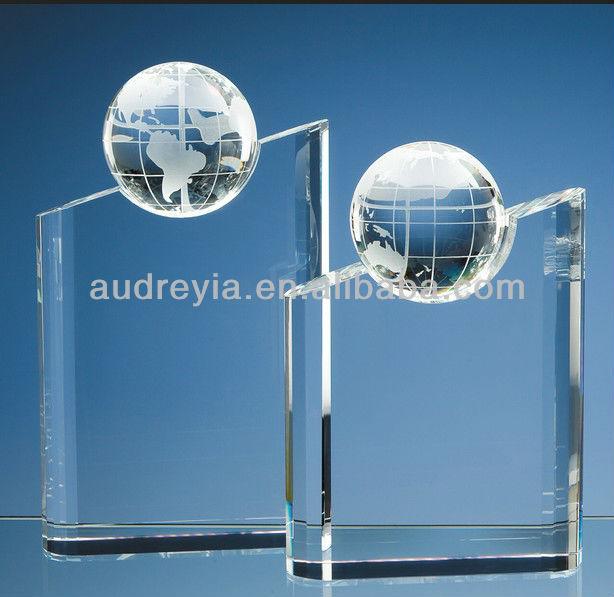 Wholesale crystal diamond shaped trophy