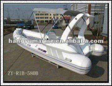 PVC 230 cm Aluminum Floor RIB Inflatable Boat