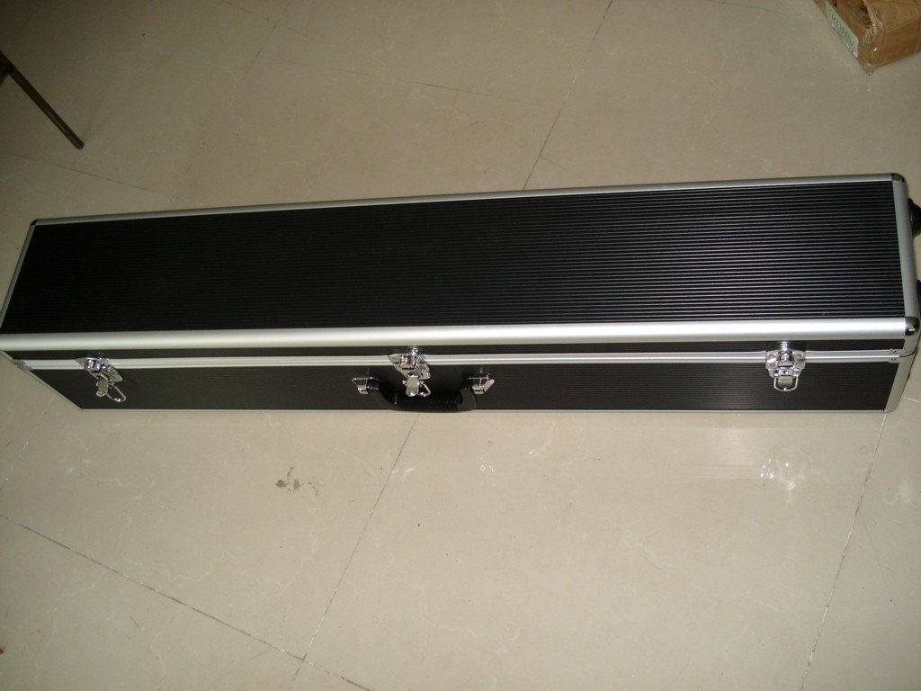 2013 new design leather gun case with foam and sponge inside