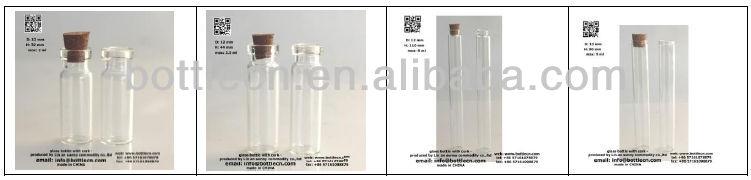 empty mini glass liquor bottle