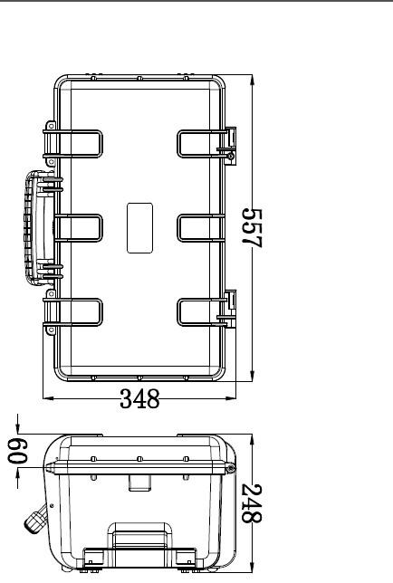 waterproof IP67 modle512722 plastic shockproof hard case golf travel bag