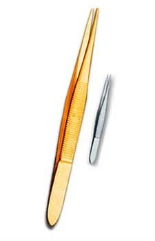Slanted tweezers