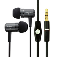 Наушники Wallytech 20X For iPhone Flat Cable Metal Earphones with Microphone for Samsung Galaxy Note 2 N7100 Earphone