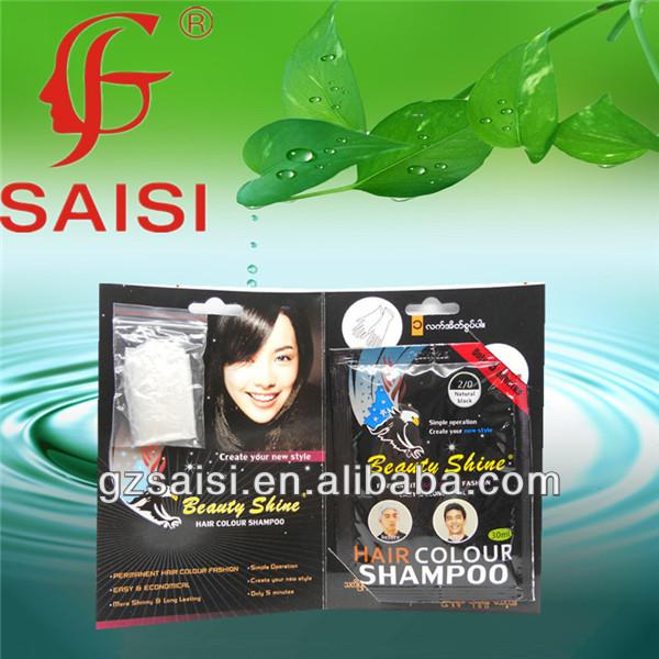 herbal hair dye shampoo anti stubborn grey hair