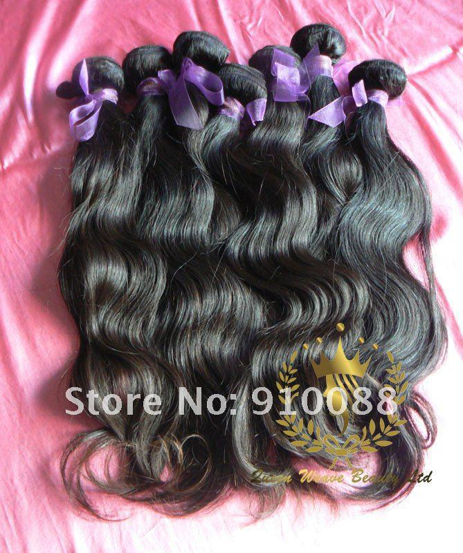 14``/16``/18`` Free Shipping Brazilian Virgin Hair, human hair natural color, no tangle non dye human hair extensions