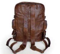 по ems! ручной работы 100% старинный кожаный коричневый рюкзак сумка с путешествия messenger плечо сумочку versatiled 2757