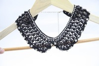 Колье-ошейник 42A22 NEW! Top Fashion! Black Pearls Crystal Rhinestone rhinestone collar necklace Jewelry