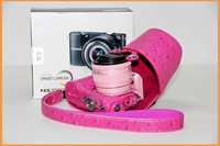Потребительская электроника Pink High Quality New Pu Leather camera case bag for Samsung NX1000 20-50 mm lens