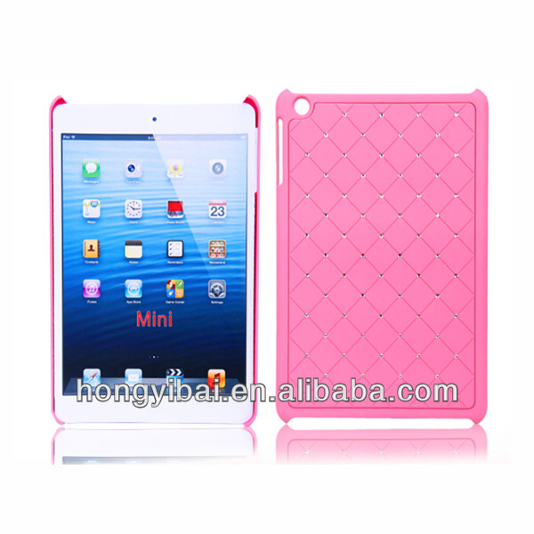 hard pc dimond custom design plastic case for ipad mini