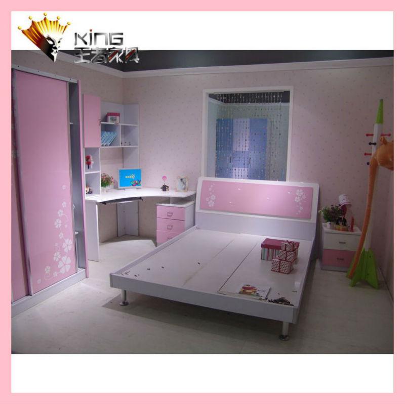 سرير خشبي للتصميمذات غرفة نوم الأطفال