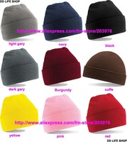 Женская шапка Best Quality Long Knit Plain men Knitted Hats royal bule color