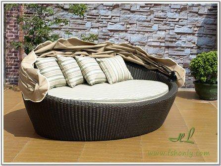 Hotel patio garden outdoor furniture in rattan and wicker