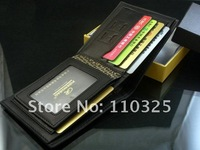 Кошелек 2012 new stylish Men wallet+genuine Leather +Pockets Clutch Cente Bifold Purse, 100% guarantee+ W-B54