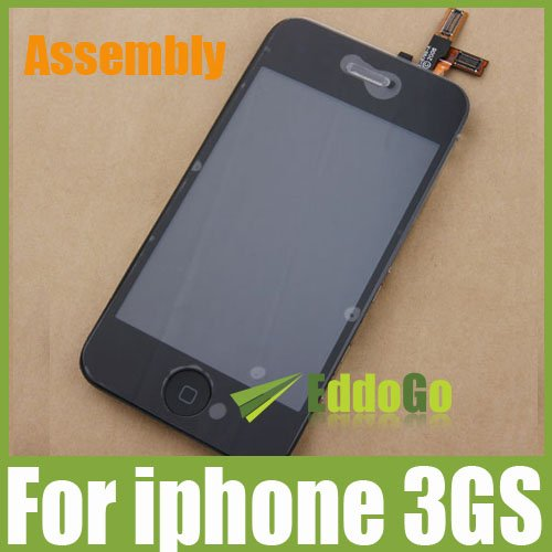 5pcs/lot Black Touch Screen Digitizer LCD Display Assembly Replacement For iphone 3GS Free shipping by DHL/EMS