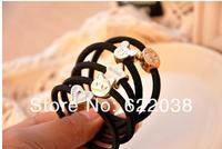 High quality hair accessories Korean retro metal crown love rubber band hair rope hair ring