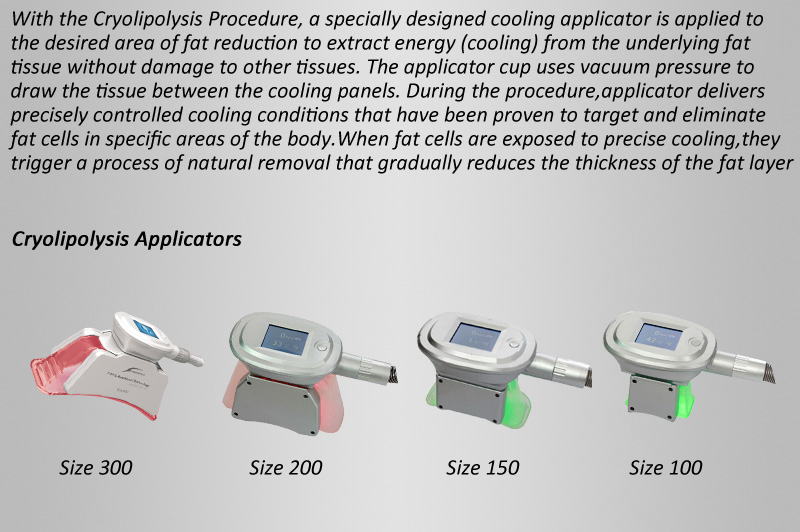Cryolipolysis freezing equipment!2 body parts doing the treatment at same time,4 handles for different body parts