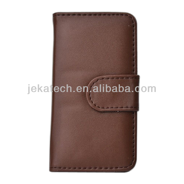 For iphone 5S PU Leather case, flip leather case for iphone 5S