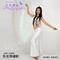5Pcs/Lot Belly Dance Props Accessory Belly Dance Flocking Wallpager 360' Wings 8Colors Available