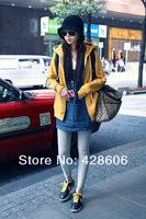 Женское платье women fashion Korean casual loose large size denim dress/girls jeans dresses HH02
