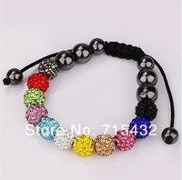 Браслет из бисера Shamballa jewelry, New Shamballa Bracelet Micro Pave CZ Disco Ball Bead, Shamballa Bracelet AD0958
