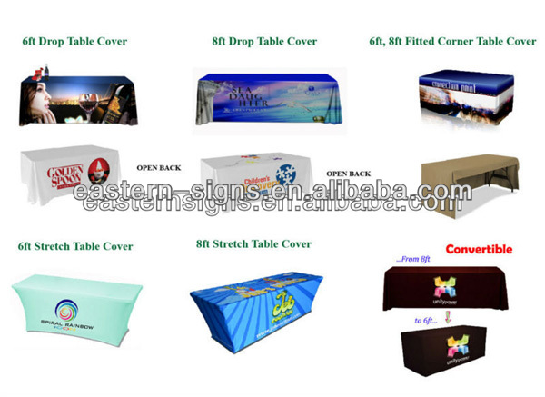 Custom Trade Show Table Cover with logo printing