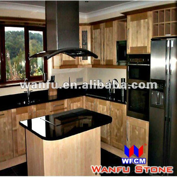 New style black granite indian kitchen interior design for Latest interior design for kitchen