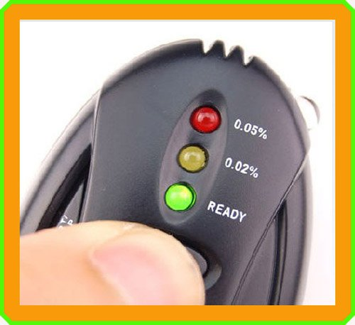 wholesale  black LED Alcohol Breath Tester Digital Breathalyze Analyze 200PCS/LOT free EMS shipping