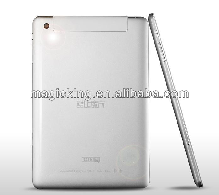 7.85 inch 3g tablet MTK6589 Quad core cortex a7 1.2ghz