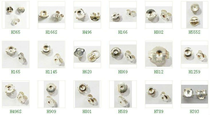 what are the different types of earring backs