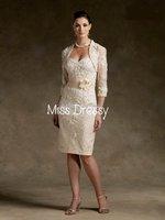 Платье для матери невесты Applique With Wedding Jacket Sweetheart 2011 Mother of bride Dress Hand-Made flower Bridesmaid Dress