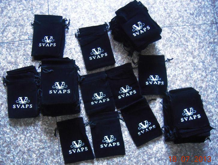 Black Velvet Gift Bag Drawstring