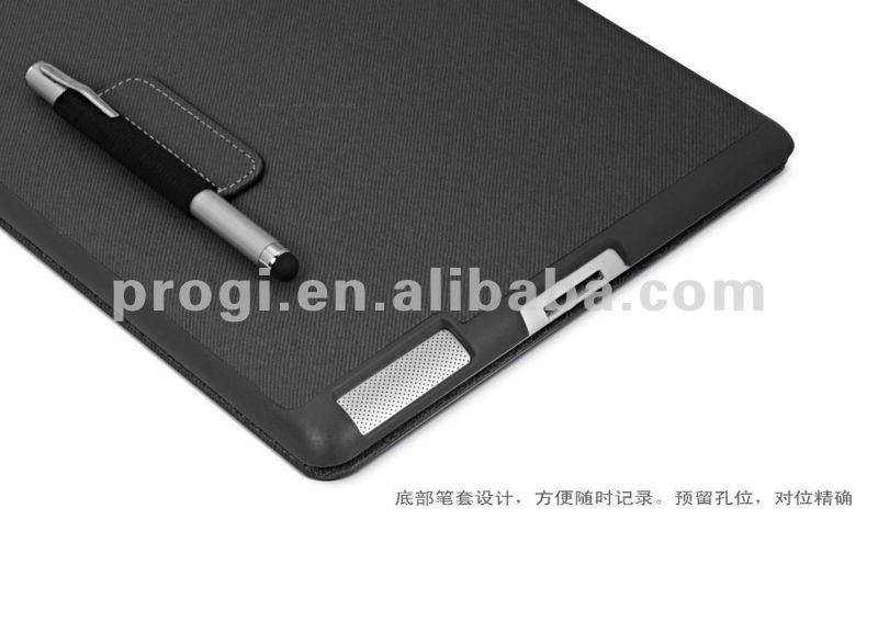 High Quality Leather Case for iPad 2/3 with retail packing