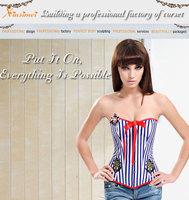 Корректирующий женский топ Sexy Sailor Style Overbust Corset