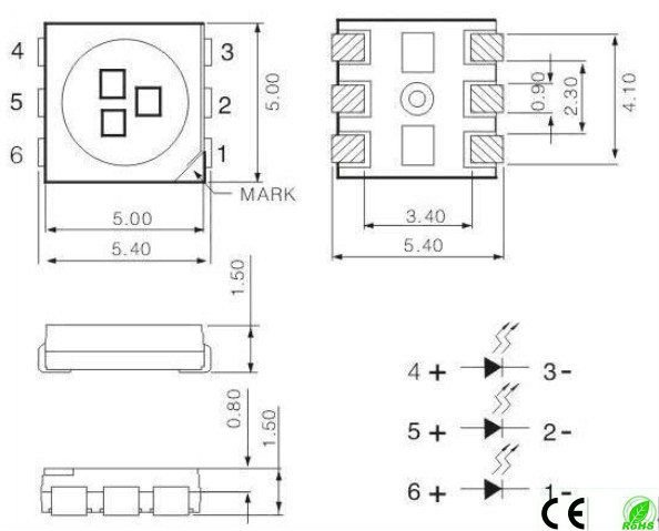 5050 smd led specifications