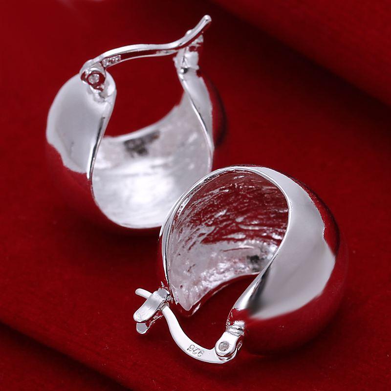מפעל מחיר העליונה quaility כסף סטרלינג 925 תכשיטי עגיל בסדר חלקה חמוד חתיך תכשיטי עגיל משלוח חינם SMTE052