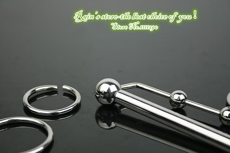 80 мм с четырьмя кольцо продукты секса уретры звук игрушки катетеры мужчины целомудрие устройство из нержавеющей стали звучать пенис пробки