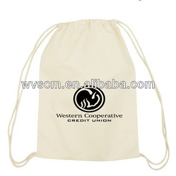 2013 cheap eco friendly cotton drawstring pouch